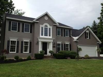 After: Vinyl Siding Refinishing